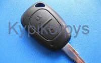 Корпус авто ключа для RENAULT Master, Traffic, Kangoo (рено мастер, трафик, кенго) 2 кнопки с лезвием.