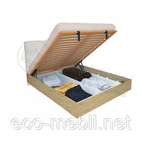 Двоспальне ліжко 180х200 мяка спинка з підйомним механізмом у спальню Верона Міромарк