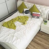 Покрывало из искусственного меха 200х230 см Норка, белый (11) на кровать, диван