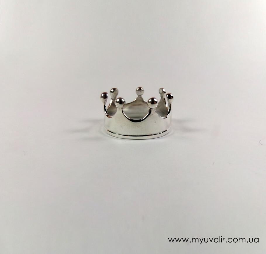 Кольцо Корона С Полоской