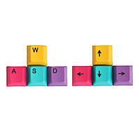 4 Шт. Набор CMYK Цвет ОЕМ-Профиль PBT Dyesub Keycaps WASD Стрелка Ключ Направление Keycap Set - 1TopShop
