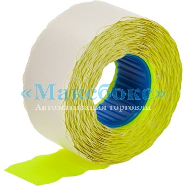 Цінник етикетка хвиляста 26 х 12 мм жовта