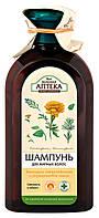 Шампунь Зеленая Аптека Календула лекарственная и Розмариновое масло Свежесть и Объем - 350 мл.