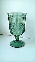 Набор 6 бокалов из цветного зеленого стекла Катрин по 300 мл, фото 3