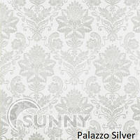 Рулонные шторы для окон в закрытой системе Sunny с плоскими направляющими - ПЛАСТИК,  ткань Palazzo