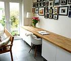 Столешница в гостиную под стиль LOFT из ясеня, фото 10