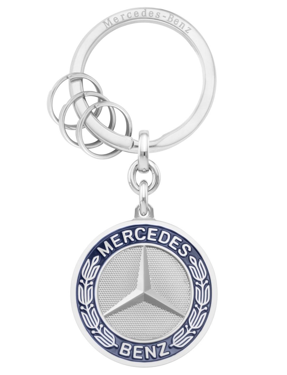 Брелок Mercedes-Benz Key Ring, Stuttgart, Silver, (B66041524)
