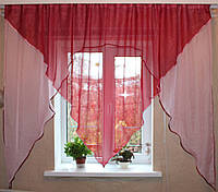 Кухонный комплект №9 Цвет бордовый с розовым
