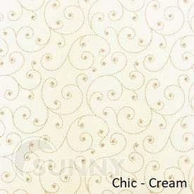 Рулонные шторы для окон в закрытой системе Sunny с плоскими направляющими - ПЛАСТИК, ткань Chic