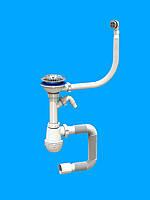 Сифон «Лотос-Мойка BIG — CERAMICS P2» для керамических моек и отводом для стиральных машин