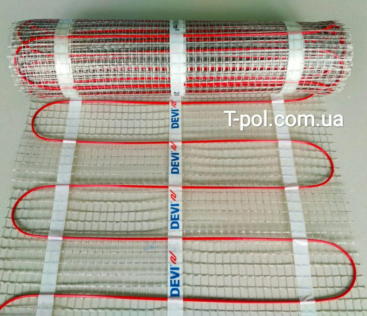 Теплый пол Devi нагревательный мат devicomfort dtir-150t на 2 м2