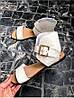 Женские сандалии из натуральной кожи бежевого цвета BREAK-IN BEIGE LEATHER, фото 2