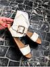 Женские сандалии из натуральной кожи бежевого цвета BREAK-IN BEIGE LEATHER, фото 4