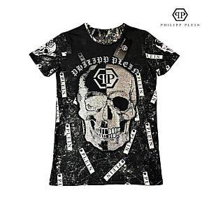 Мужская брендовая футболка реплика Philipp Plein