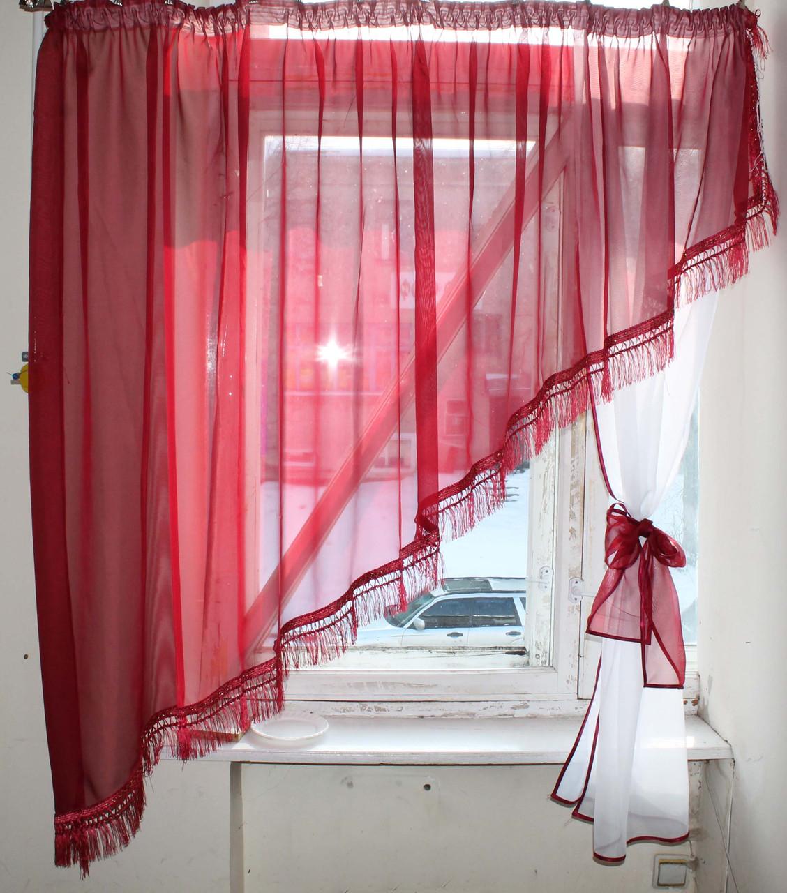 Кухонный комплект №13 Цвет бордовый