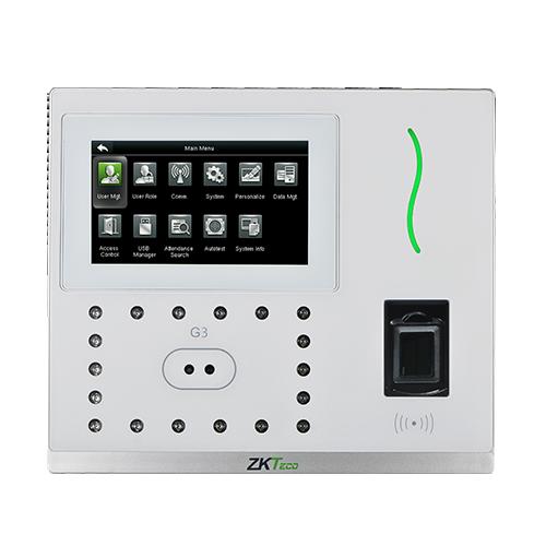 Терминал учета рабочего времени и доступа ZKTeco G3 PUSH - распознавание лиц и отпечатков