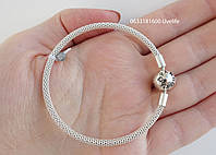 Жесткий серебряный браслет Пандора, арт. 550001/11,