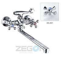 Смеситель для ванны ZEGOR (TROYA) DTZ7-А827