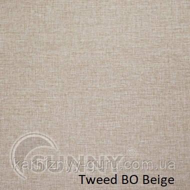 Рулонные шторы для окон в закрытой системе Sunny с плоскими направляющими - ПЛАСТИК, ткань Tweed BO