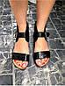 Женские сандалии из натуральной кожи черного цвета BREAK-IN BLACK LEATHER, фото 2