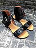 Женские сандалии из натуральной кожи черного цвета BREAK-IN BLACK LEATHER, фото 4