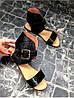 Женские сандалии из натуральной кожи черного цвета BREAK-IN BLACK LEATHER, фото 5