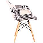 Кресло Salex FB Wood Patchwork черно-белый, фото 4