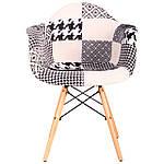 Кресло Salex FB Wood Patchwork черно-белый, фото 2