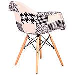 Кресло Salex FB Wood Patchwork черно-белый, фото 3
