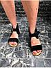 Женские сандалии из натуральной замши черного цвета BREAK-IN BLACK SUEDE, фото 3
