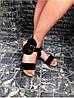Женские сандалии из натуральной замши черного цвета BREAK-IN BLACK SUEDE, фото 4