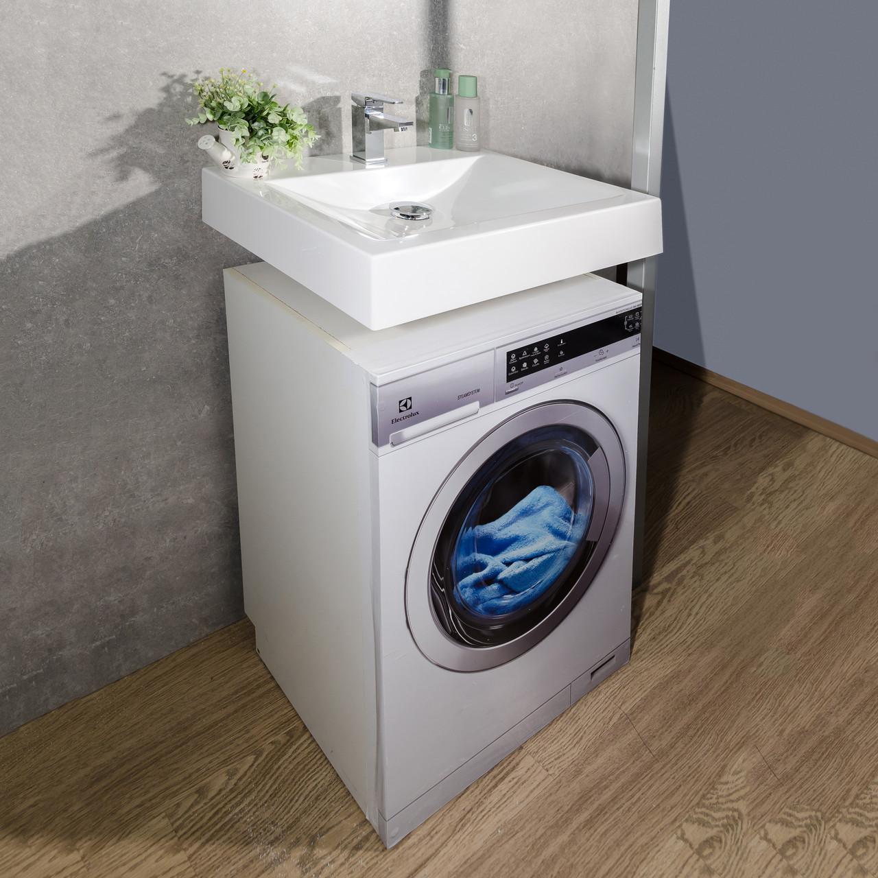 Умывальник подвесной над стиральной машиной Fancy Marble 600х500