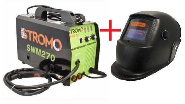 Зварювальний інверторний напівавтомат Stromo SW270 MIG+MMA (2 в 1) + Зварювальний маска Форте MC-1000 (хамелеон)