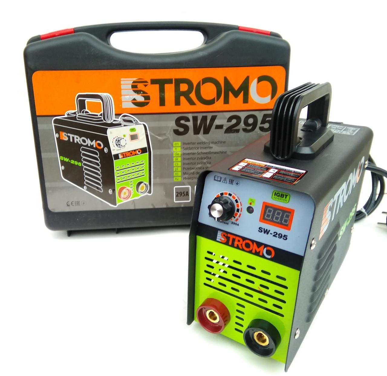 Зварювальний апарат інверторний Stromo SW-295 (дисплей + кейс) . Зварювання Стромо