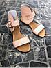 Женские сандалии из натуральной кожи розового цвета BREAK-IN POWDER LEATHER, фото 4
