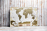 Скретч карта світу My Antique Map ENG Постер з прапорами у подарунок! Найдетальніша скретч карта в античному стилі, фото 5
