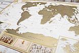 Скретч карта світу My Antique Map ENG Постер з прапорами у подарунок! Найдетальніша скретч карта в античному стилі, фото 6