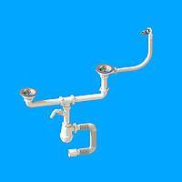 Сифон «Лотос- Мойка BIG DUPLEX-CERAMICS P2» для керамических моек