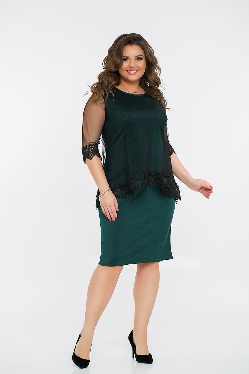 Платье  LiLove 8- 1136 54-56 зеленый