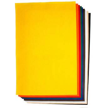 Фетр листовой (вискоза), 45 x 70 см, Желтый, 150г/м2, Folia
