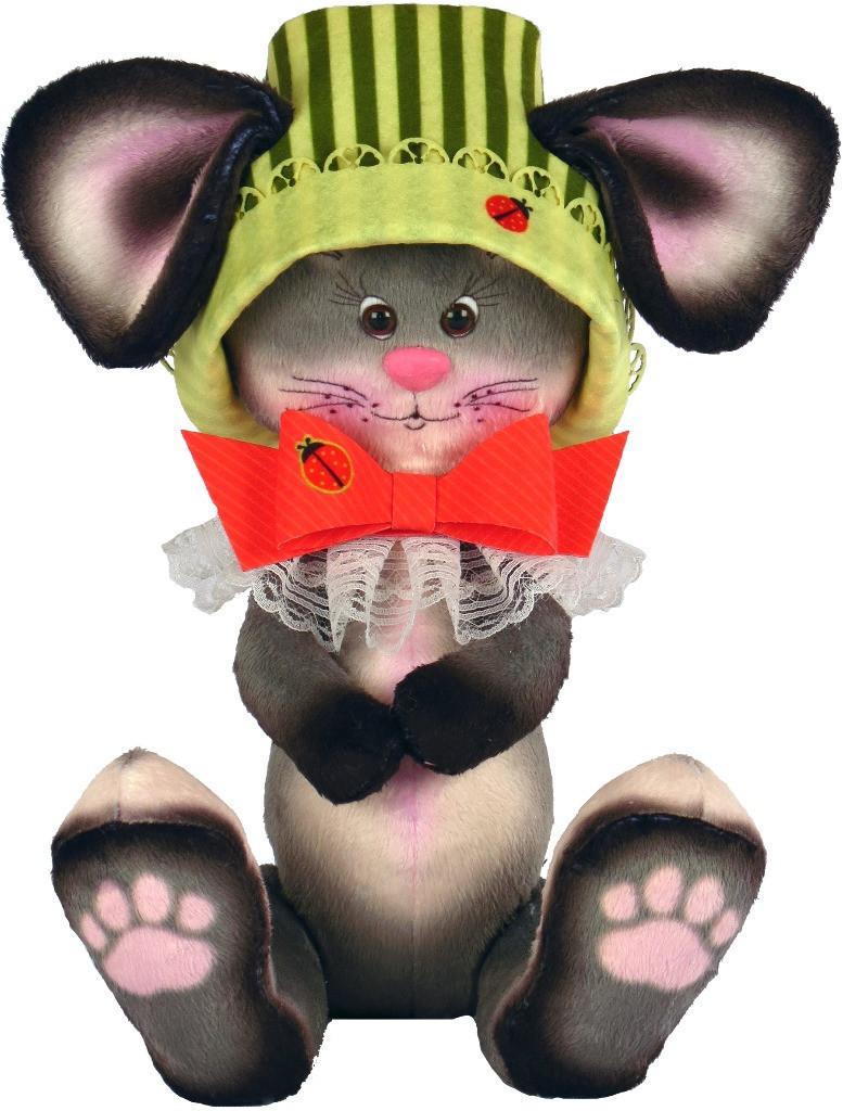 Набір для шиття Нова Слобода М'яка іграшка 40см Мишка з бантиком М4014