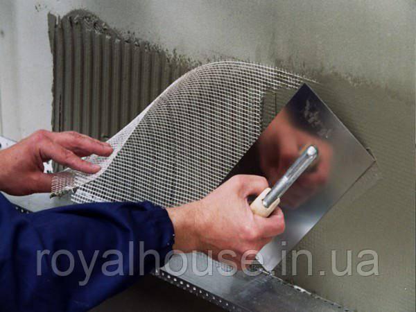 Шпаклевка стен с сеткой