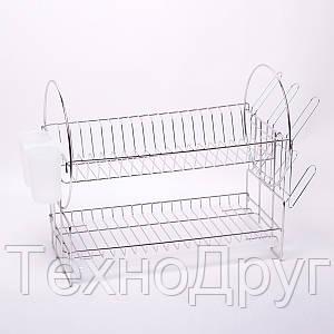 Двухъярусная сушилка для посуды из хромированной стали Kamille KM-0760