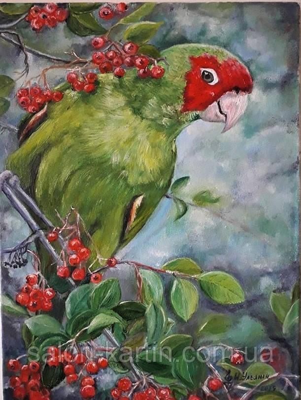 """Картина """"Зеленый попугай"""""""