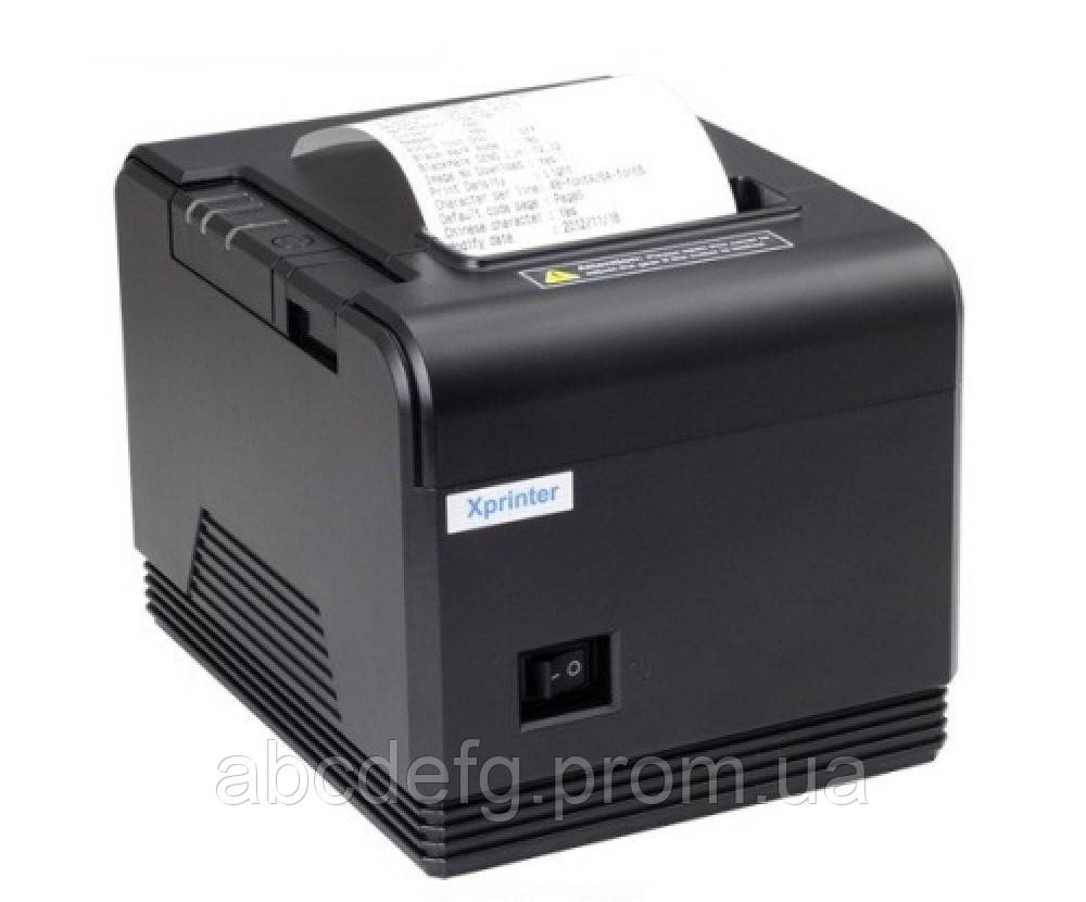 Принтер чеков Xprinter XP-Q800 (USB + RS-232 + Ethernet)