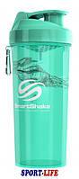 Шейкер - спортивная бутылка SmartShake LITE 1000ml Аквамарин, 1 отсек, фото 1