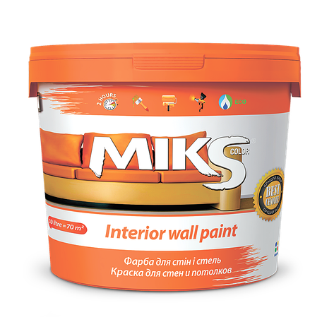 Фарба для стін і стель МІКС 14 кг, фото 2