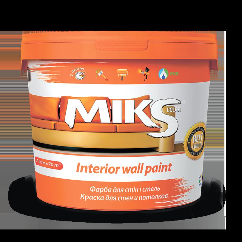 Фарба для стін і стель МІКС 7 кг