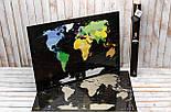 Черная скретч карта мира My Map Black Edition серебристый скретч-слой + Постер с флагами в подарок!, фото 3