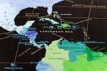 Черная скретч карта мира My Map Black Edition серебристый скретч-слой + Постер с флагами в подарок!, фото 4